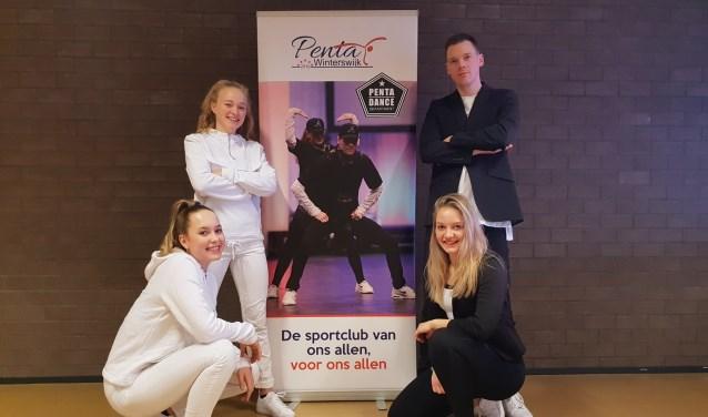 Manou, Fleur, Tim en Kimberley. Foto: PR Penta Winterswijk