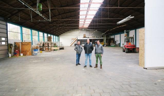 Rob Schutten in het midden met rechts Martin Geessinck en links Mike Ruikers. Foto: Theo Huijskes