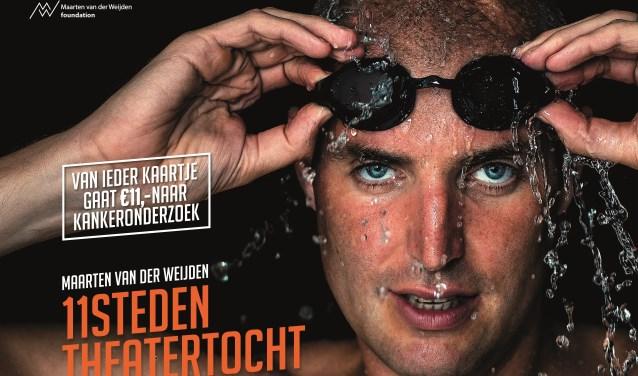 Maarten van der Weijden doet na zijn heroïsche zwemtocht elf theaters aan, waaronder Amphion. Foto: PR