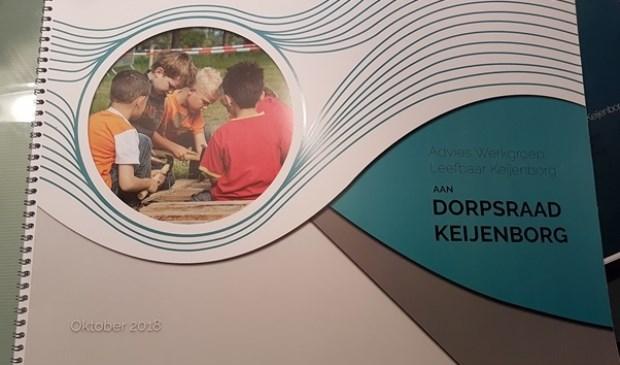 Advies Werkgroep Leefbaar Keijenborg aan Dorpsraad Keijenborg. Foto: PR