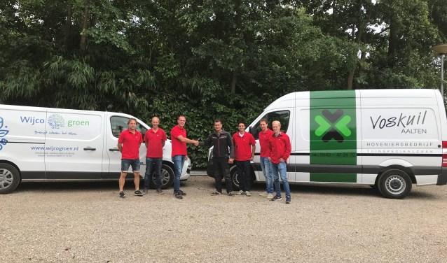 Met de overname zijn Voskuil en Wijco Groen één team geworden, onder de naam Hoveniersbedrijf Voskuil. Foto: PR