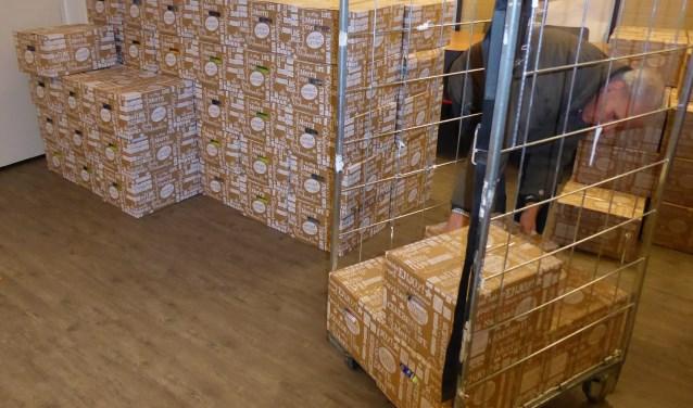 Pakketten op een afhaallocatie. Foto: PR