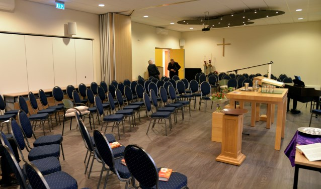 De Sprankel doet tijdelijk dienst als kerkzaal totdat eind mei de Dorpskerk weer beschikbaar is. Foto: PR.