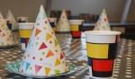 Maak een eigen Mondriaan feesthoedje. Foto: PR