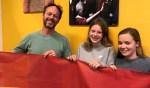 Docent Niek Lentelink, Minne van der Mast en Britney Hogeweij zijn deze week in Ghana voor Edukans Going Global. Foto: PR
