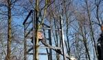 De speeltoren is afgelopen week geplaatst op het terrein van Scouting Groenlo. Foto: Kyra Broshuis