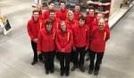 Het team van Praxis met linksvooraan Anja Vrieze. Foto: PR