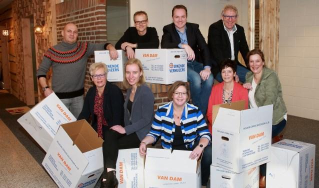 Het team van Iets Anders Makelaars is blij met en klaar voor de verhuizing. Foto: PR