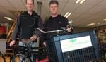 Gert Aarnink (Hengeveld Bike Center) en Richard Jongetjes (talentverbinder Aalten). Foto: PR