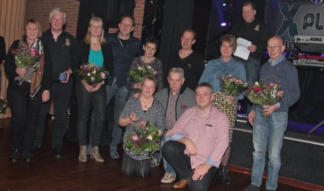 VAMC jubilarissen met aanhang. Foto: Henk Teerink