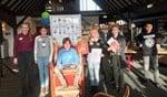 De kwartfinalisten van de voorleeswedstrijd in Terborg. Foto: PR