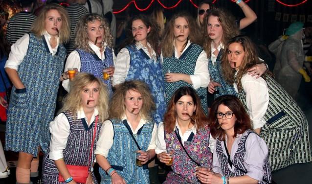 De best/origineelst verkleedde groep was de MA Flodders. Foto: Johan Bolink