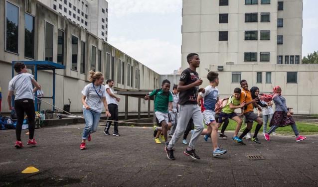 Kinderen tijdens activiteiten TeamUp. Foto: Daniel Maissan