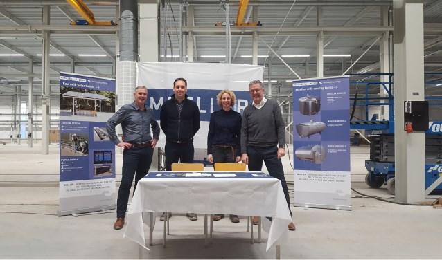 Van links naar rechts: Marco Frank, Menko van Gorkum, Nienke Boerkoel en Tonnie Zieverink. Foto: PR