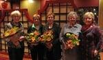 Reiny Dijkstra, Kia van de Linde, Susan van Duijn, Dini Prinsen met voorzitterIneke Klein Wassink (vlnr). Foto: PR