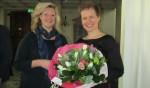 Elske te Lindert (r) toonde zich verrast met de benoeming. Foto: Bert Vinkenborg