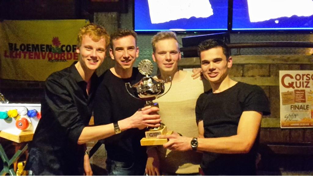 Winnaars CorsoQuiz 2017. Foto: PR  © Achterhoek Nieuws b.v.