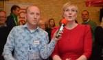 Burgemeester Marianne Besselink en Björn Kummeling van Ideaal presenteren de uitslagen. Foto: Ideaal.org/Jaimy Buunk