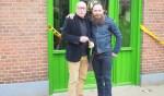 Rene Willemsen met zijn vader Hans. Foto: PR