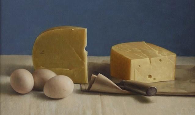 Henk Helmantel - Stilleven met kaas en eieren. Foto: PR
