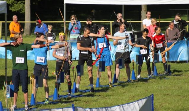 Een schietbeurt tijdens de Run-Archery. Foto: PR