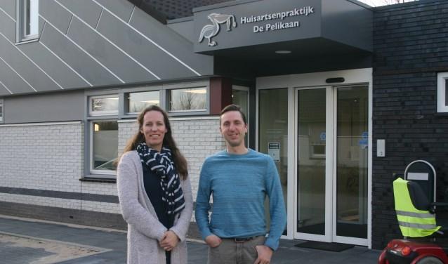 De huisartsen Michael Velthausz en Femke Smulders voor Huisartsenpraktijk 'de Pelikaan'. Foto: PR