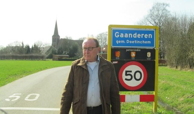 Gaanderenaar Bennie Ernst duikelde naar een onverkiesbare plek op de CDA-kieslijst. Foto: Bert Vinkenborg
