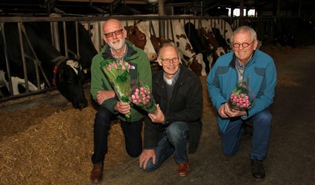 Grondleggers van 'school-boer' Fré Heuvelink, Jozef Holtslag en Wim Regelink. Foto: Liesbeth Spaansen
