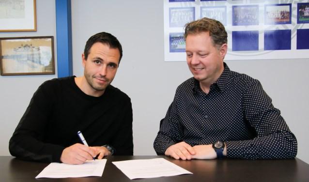 Marco Parnela (l) en Jeroen Bloemenkamp, voorzitter van Be Quick. Foto: PR