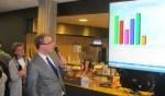 Burgemeester Boumans becommentarieert de uitslag. Foto: Bert Vinkenborg