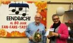 Wim Grevers wordt door voorzitter Sloetjes in het zonnetje gezet. Foto: PR