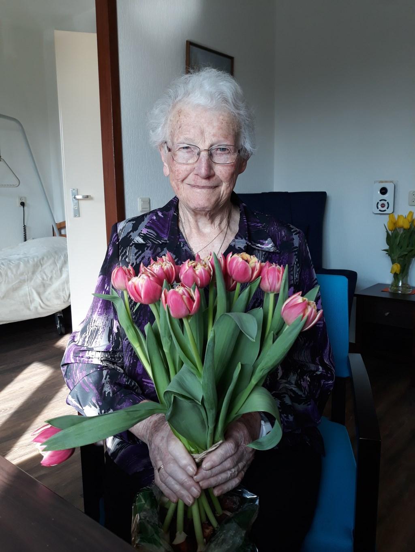 Zestig jaar lid: Toos Gosselink. Foto: Hennie Wijers  © Achterhoek Nieuws b.v.
