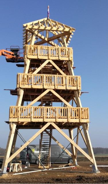 De uitkijktoren is klaar en geopend. Foto: PR