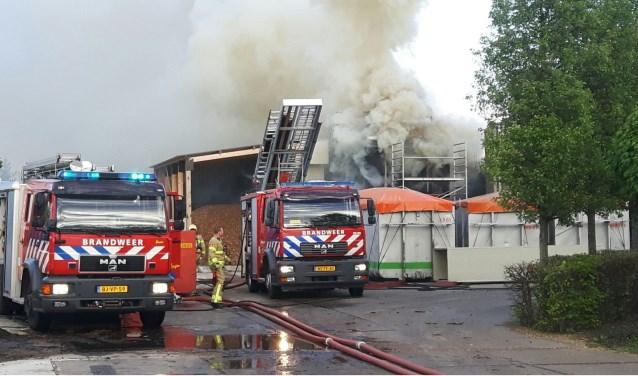 Brand in mestdroger Groenlo