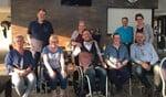 De Varsseveldse kookclub met de beschermheren. Foto: PR