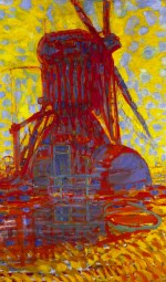 Piet Mondriaan - molen bij zonlicht - 1908, collectie Gemeentemuseum Den Haag
