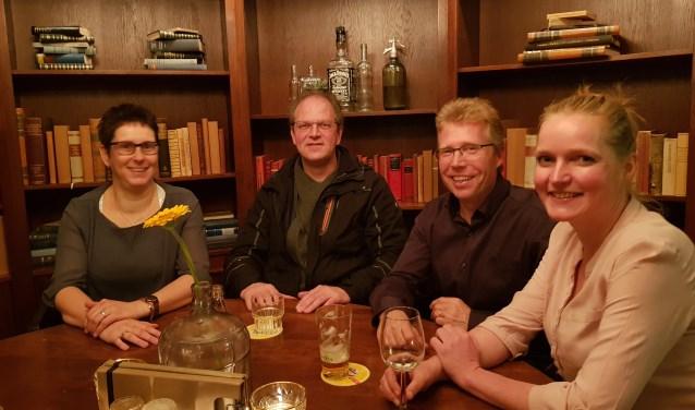 Vlnr: Monique Uffink, Johan Klein Nibbelink, Pascal Wolterink en Rinske Kranen. Foto: Henri Polman