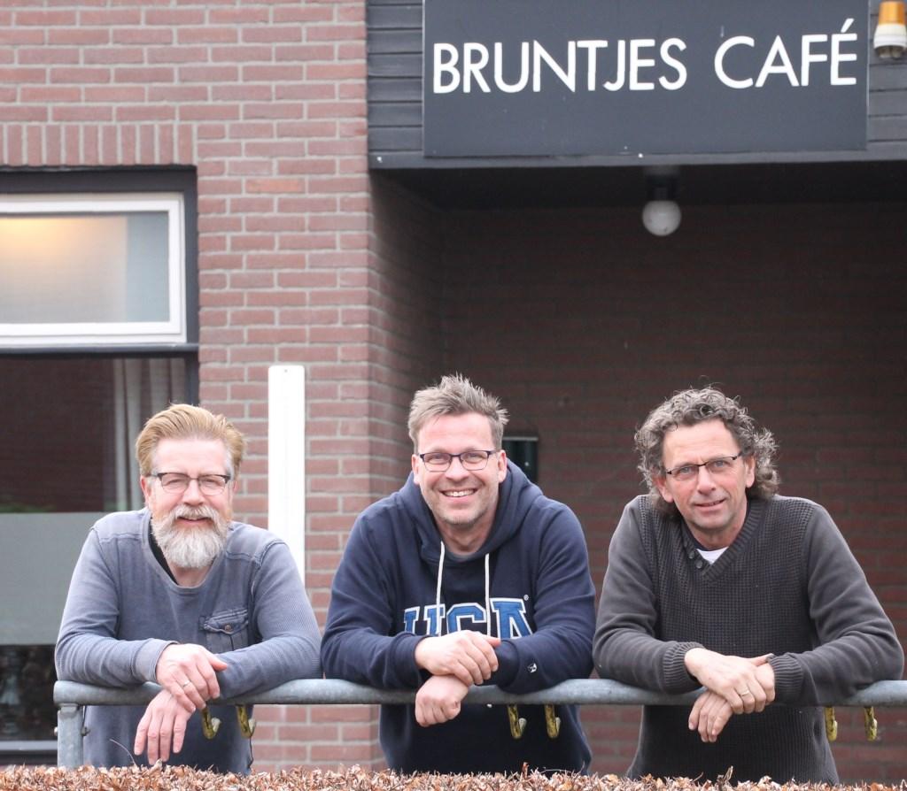 Bestuur van stichting Oranjepodium: Vincent Doppen, Jos Doppen en André van Gaalen. Foto: Annekée Cuppers