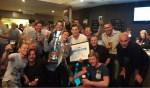 De kampioenen vierden een vrolijk feestje. Foto: PR