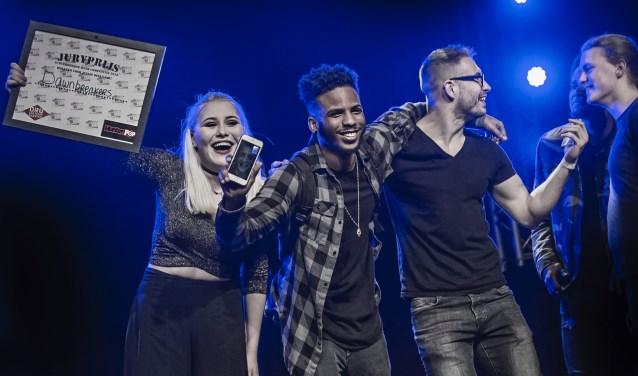 Dawnbreakers won de juryprijs tijdens de Achterhoekse Band Competitie. Foto: Edwin Hunter