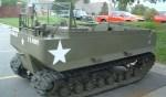 Dit voertuig is te zien tijdens de optocht en werd gebruikt in onbegaanbaar terrein en in de sneeuw Foto: PR