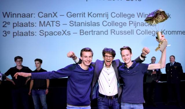 Gerrit Komrij College winnaar Nederlandse CanSat competitie