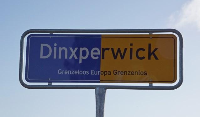 Het plaatsnaambord Dinxperwick. Foto: Frank Vinkenvleugel
