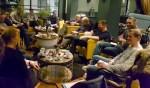 De organiserende commissie in vergadering. Foto: Bart Kraan