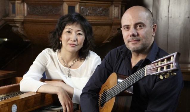 Fortepianiste Kaoru Iwamura en gitarist Dario Macaluso. Foto: PR