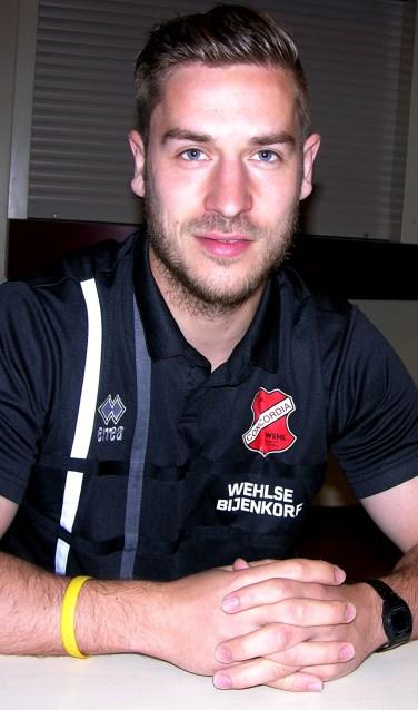 Concordia-aanvaller Wouter Jansen: 'Als je naar ons team kijkt, hadden we al veilig moeten staan'. Foto: John van der Kamp