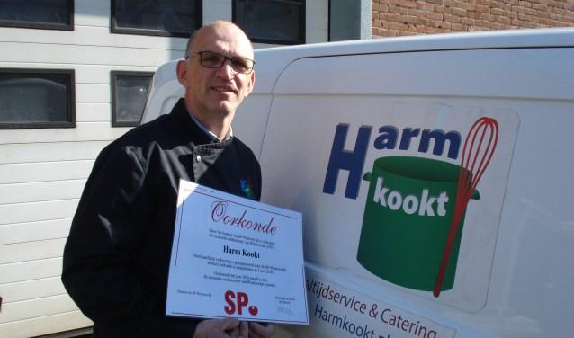 Harm Wassink werd uitgeroepen tot de sociaalste ondernemer. Foto: Clemens Bielen