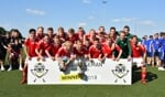 Het winnende Zweedse team van Kalmar FF. Foto: Kees Avé