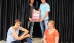 Vlnr: Annekée Cuppers, Nick Leisink, Martin van Laar en Jolien Weevers organiseren 'Get on Stage'. Foto: Barbara Pavinati