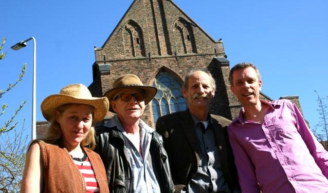 Hans Driesten 4 Blues bestaat uit (v.l.n.r.): Carla Wassenaar, Hans Driesten, Peter Beemsterboer en Rob Nijenhuis.  Foto: Queen Elien